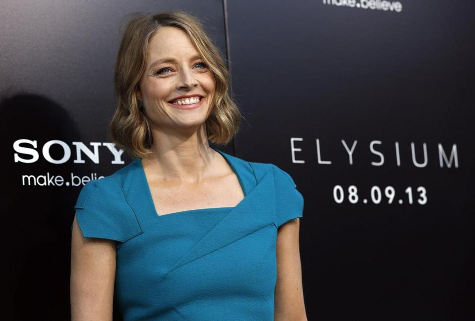 "Jodie Foster at the world premiere of ""Elysium"" in Los Angeles in 2013."