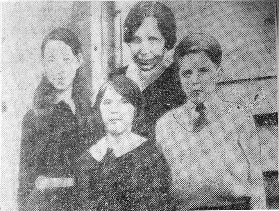 Asta Eicher and her three children.