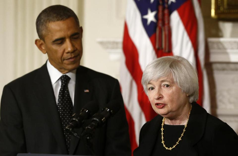 Janet Yellen, if confirmed by the Senate, would become the first woman to head the Federal Reserve.