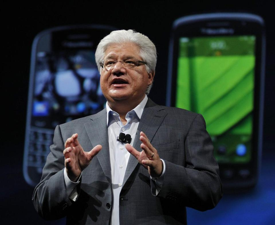 Mike Lazaridis (pictured) and Doug Fregin, who founded BlackBerry in 1999, are considering buying the 92 percent of the shares they do not currently own.