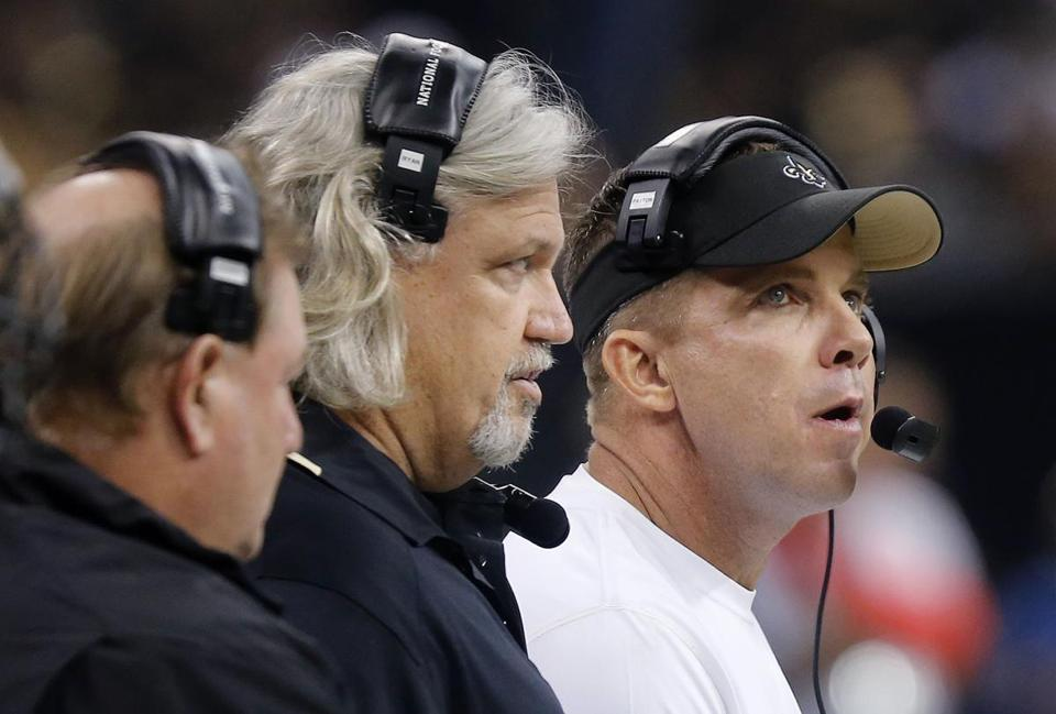 New defensive coordinator Rob Ryan (center) has proven to be a valuable asset to Saints coach Sean Payton (right).