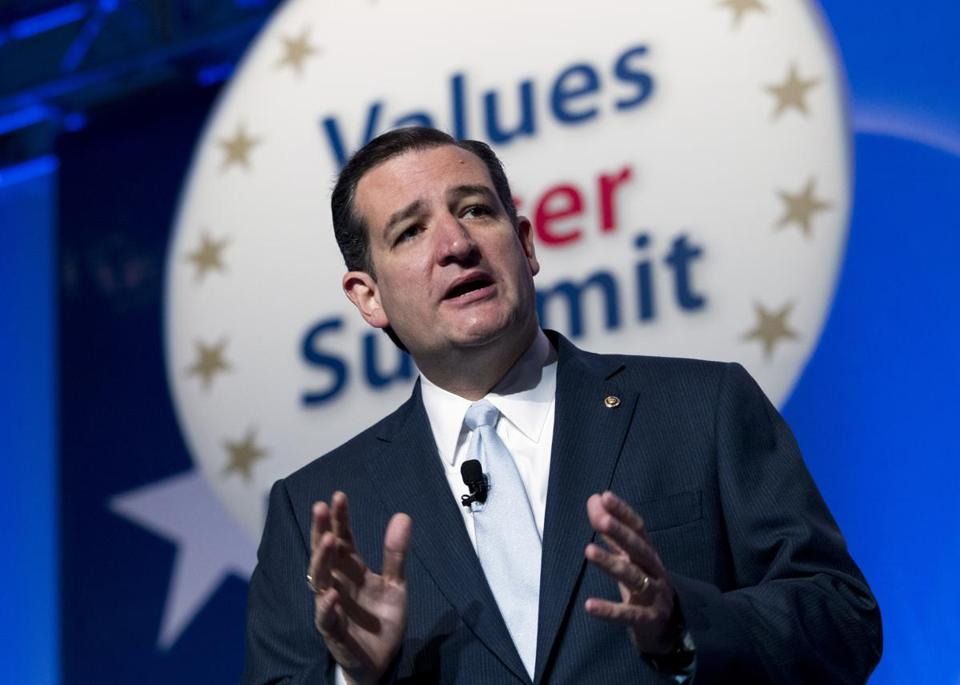 Senator Ted Cruz spoke during the Values Voter Summit on Friday in Washington, D.C.