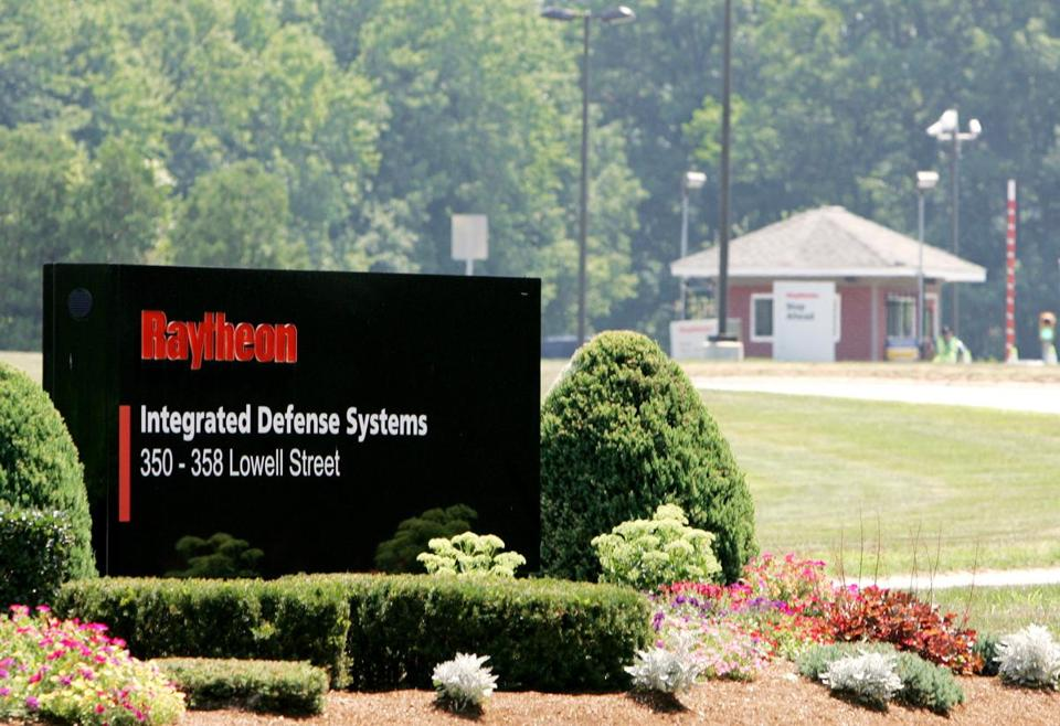 The entrance to a Raytheon Co. plant in Andover.