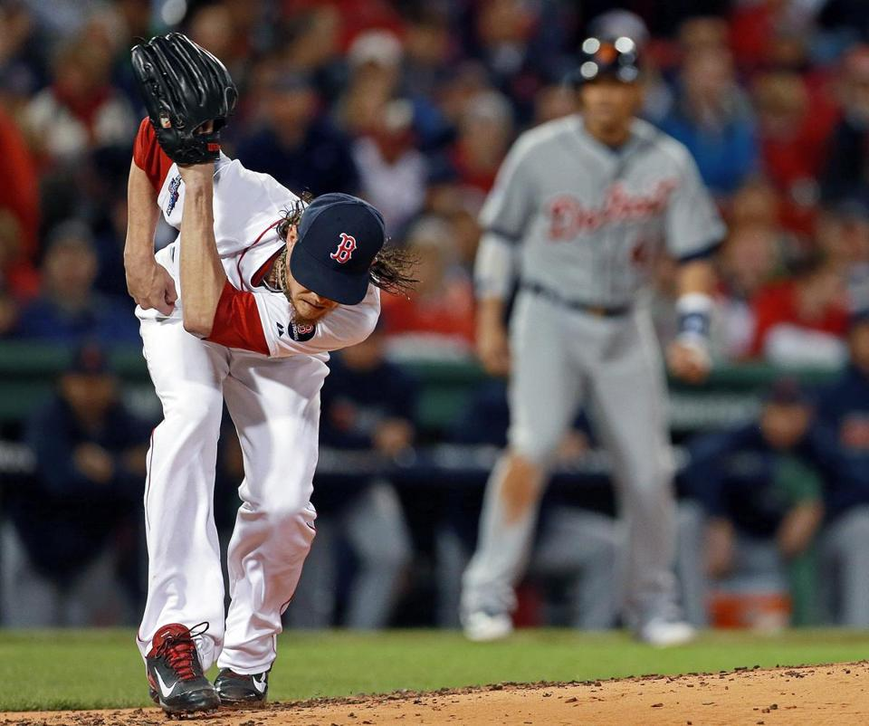 Red Sox starter Clay Buchholz ducked to avoid a second-inning single by Alex Avila that gave the Tigers a 1-0 lead.