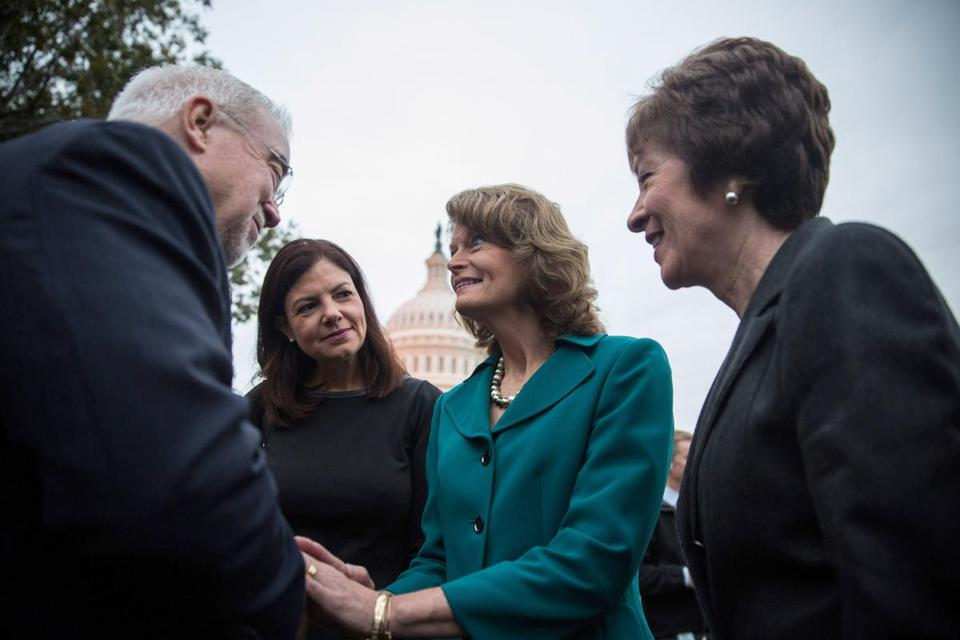 Maine's Susan Collins (right) and New Hampshire's Kelly Ayotte (left) resisted the pressure of the Tea Party and sought instead to find a bipartisan solution.