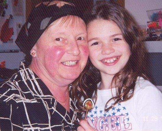 Michayla Baker with her grandmother Linda Jarvis.