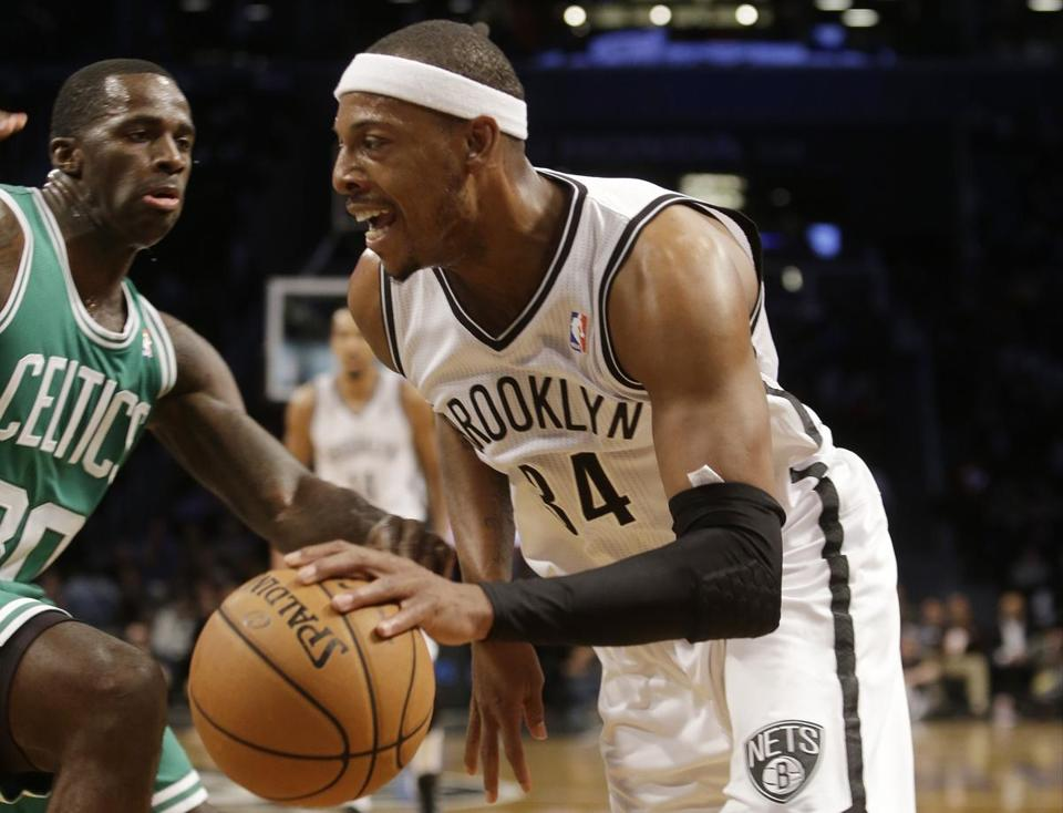 Paul Pierce was wearing a Nets uniform when he opposed the Celtics on Tuesday.