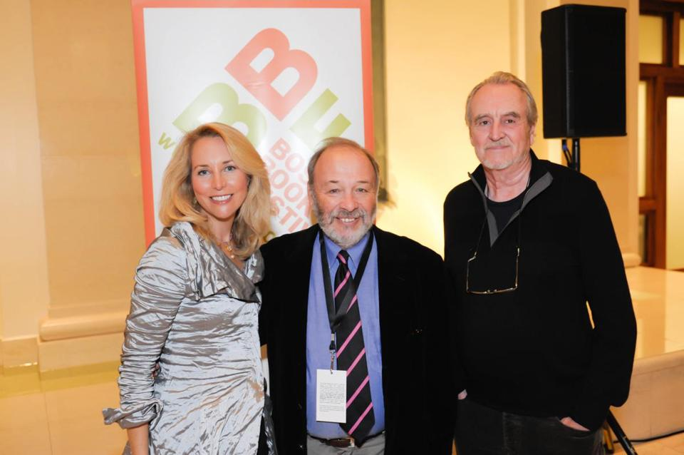 From left: Valerie Plame, Joe Klein, and Wes Craven at the Boston Book Festival opening party.