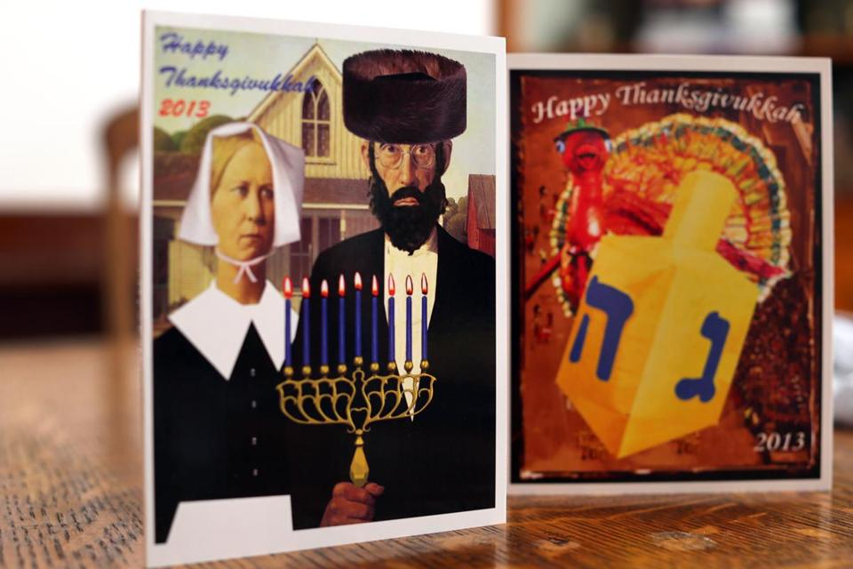 "Dana Gitell, a marketing specialist at NewBridge on the Charles, a Dedham retirement community, came up with the term ""Thanksgivukkah."""