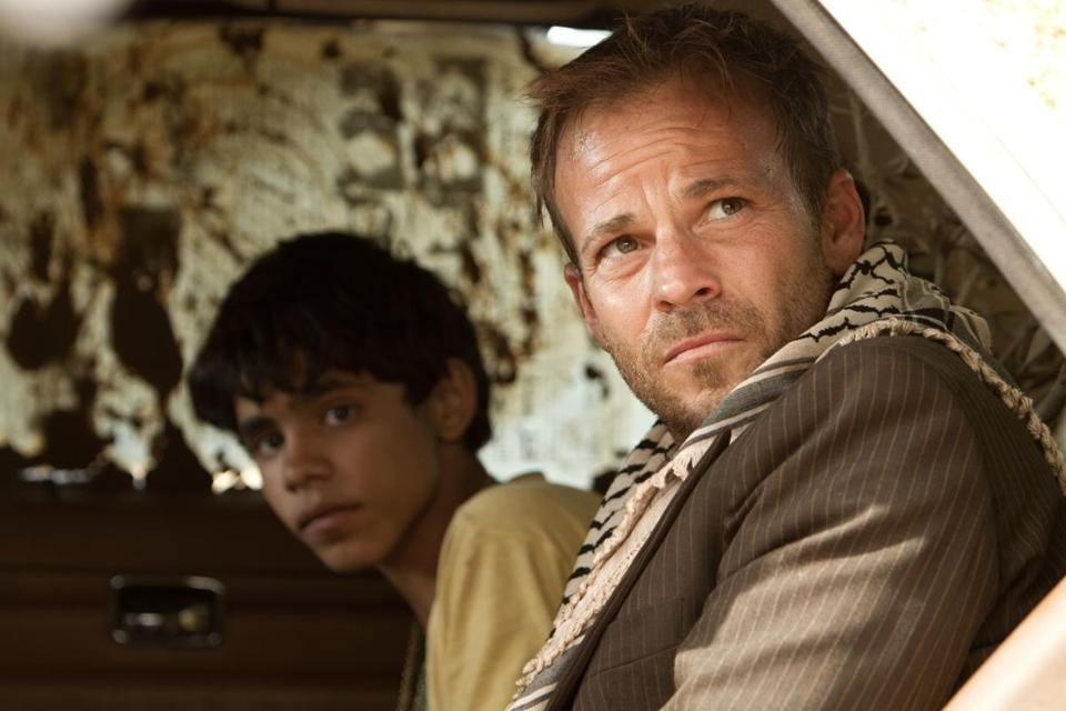 "Abdallah El Akal as Fahed and Stephen Dorff as Yoni in ""Zaytoun."""