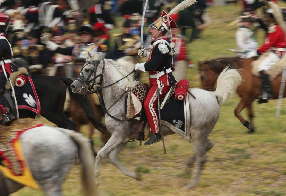 About 6,000 history enthusiasts reenacted Napoleon's retreat during the Battle of Nations on its 200th anniversary Sunday near Leipzig, Germany.