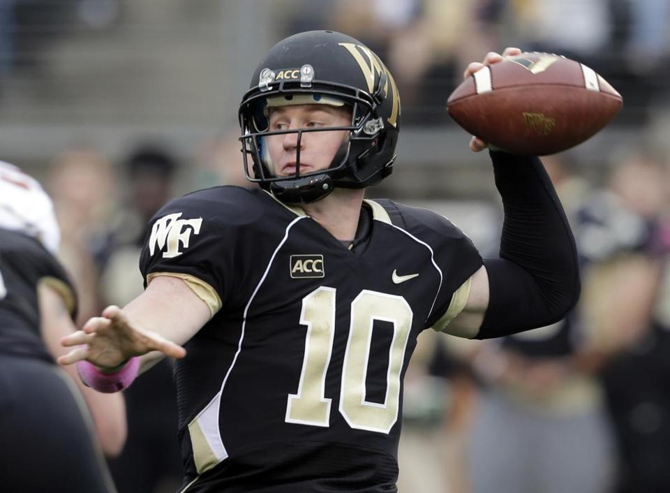 Wake Forest quarterback Tanner Price was dominant Saturday.