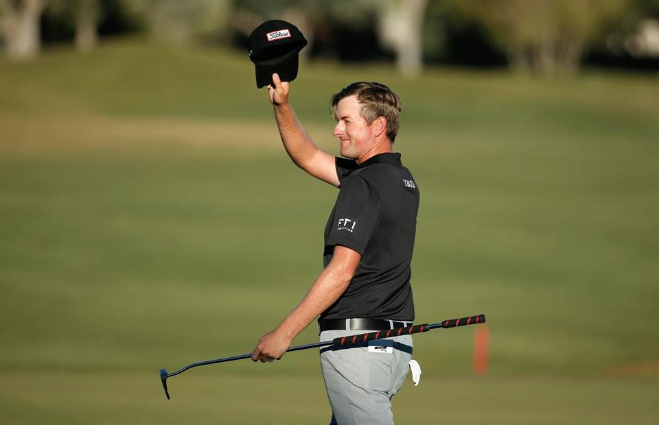 Webb Simpson's victory was his first since winning the US Open crown in 2012.