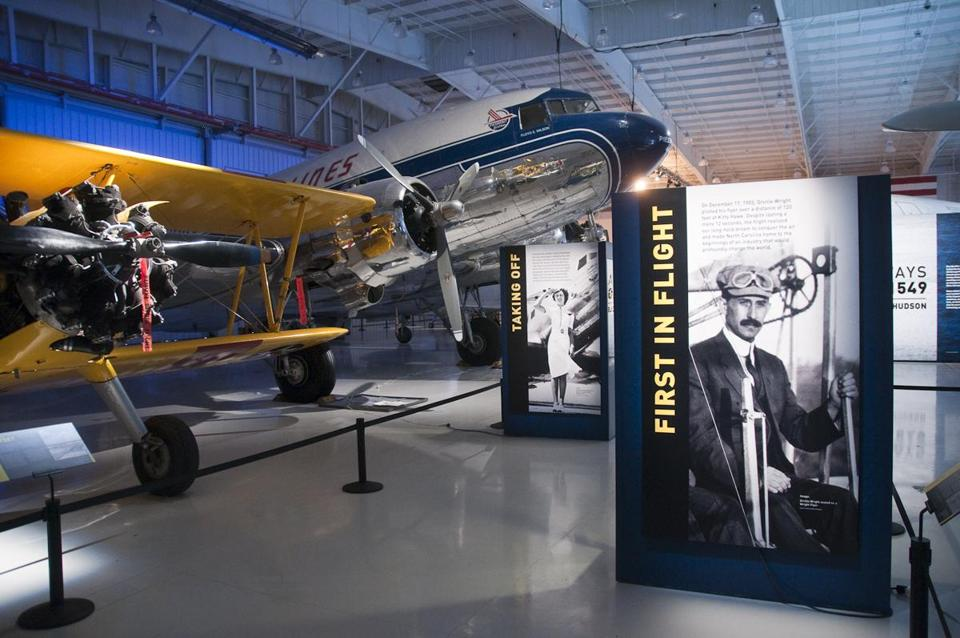 Technology is only one aspect of the Carolinas Aviation Museum in Charlotte, N.C. Each exhibit is showcased with information and stories on aviation history.