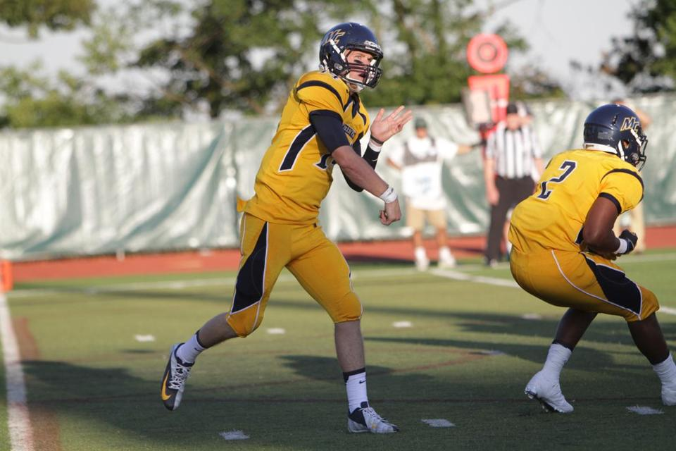 Quarterback Joe Clancy is scoring big for Merrimack College, just as he did last year.