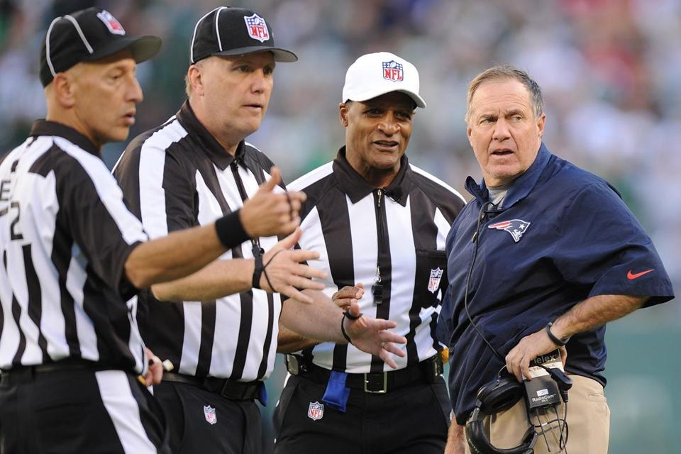 "Bill Belichick didn't agree with the ruling Sunday, referencing a ""second level.'' On Monday, he said, ""It's our job to understand the rules.''"