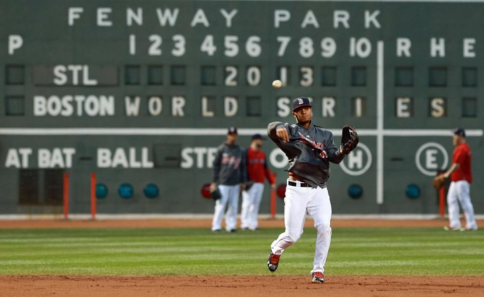 Xander Bogaerts is expected to start at third base for the Red Sox in the World Series.