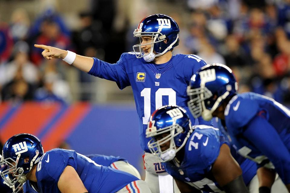Giants QB Eli Manning (23 for 39, 200 yards), who leads the league with 15 interceptions, didn't throw one for the first time all season.