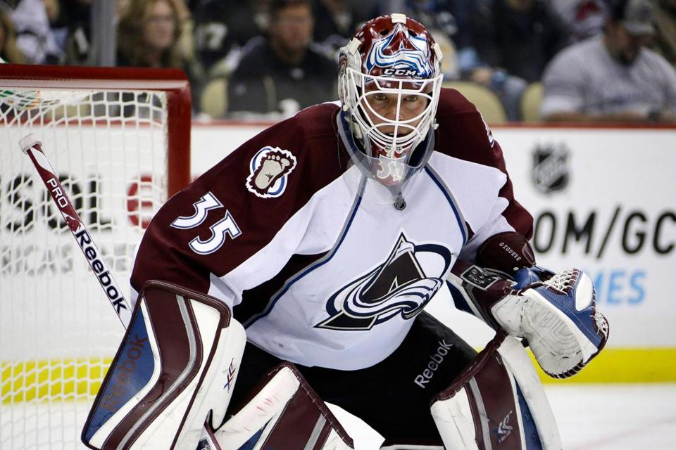 Jean-Sebastien Giguere turned aside 34 shots for his second shutout in 11 days.