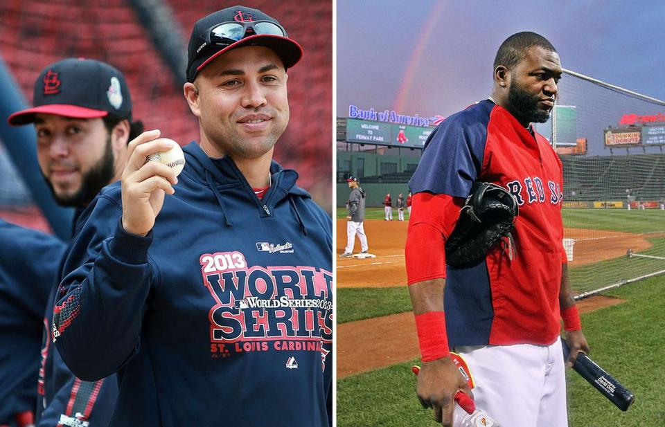 David Ortiz and the Red Sox will host the Cardinals in the first two games of the World Series.