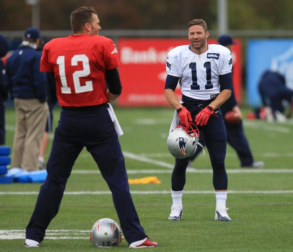 Julian Edelman (11) has been one of Tom Brady's few familiar targets in the passing game.