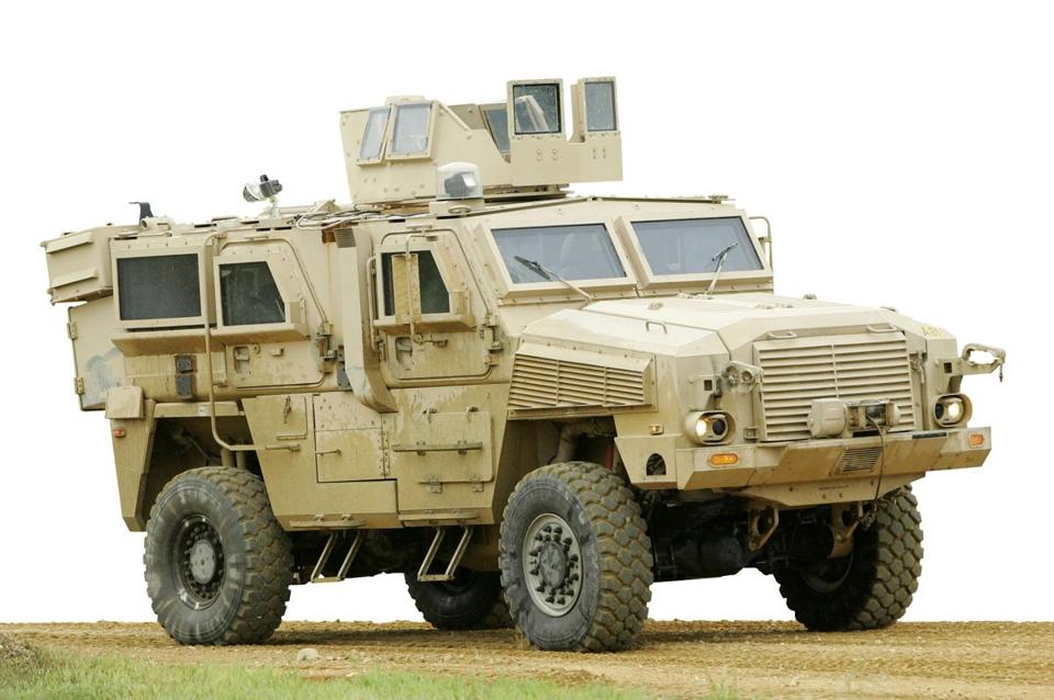 MRAP vehicles are designed to protect occupants from IED attacks.