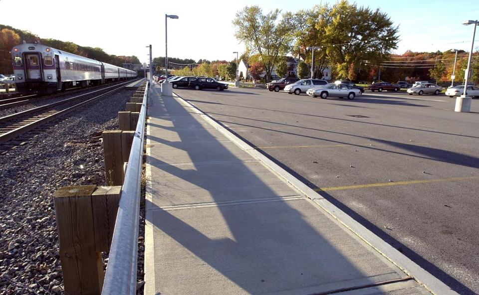 The Ashland commuter rail station has ample parking, at least.