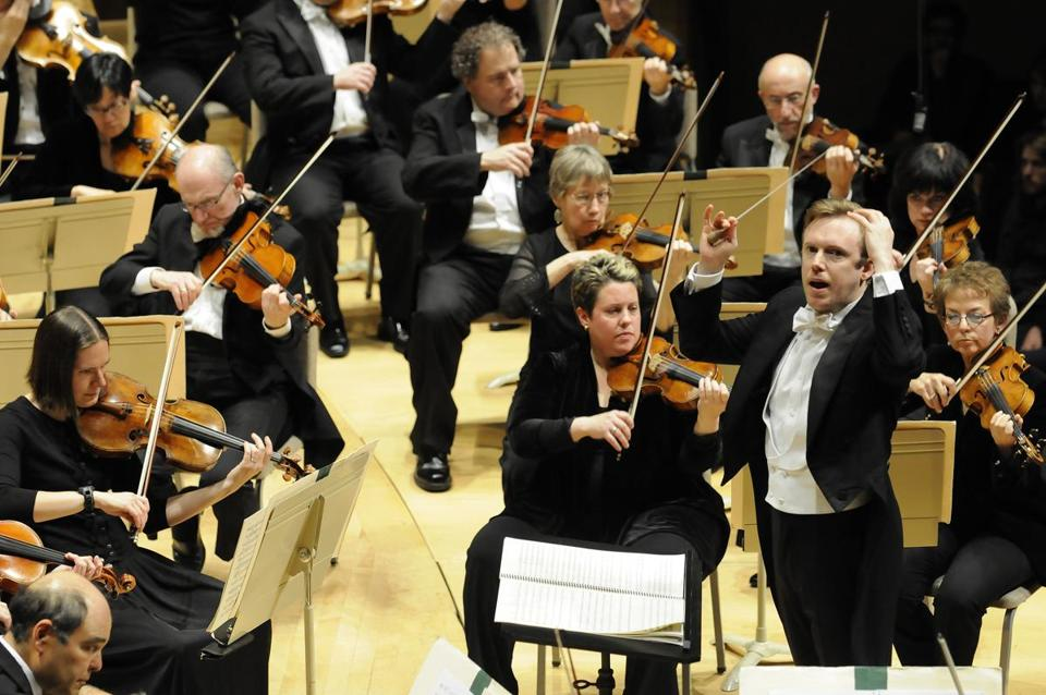 "Daniel Harding led the Boston Symphony Orchestra in the American premiere of Mark-Anthony Turnage's ""Speranza"" on Thursday night."
