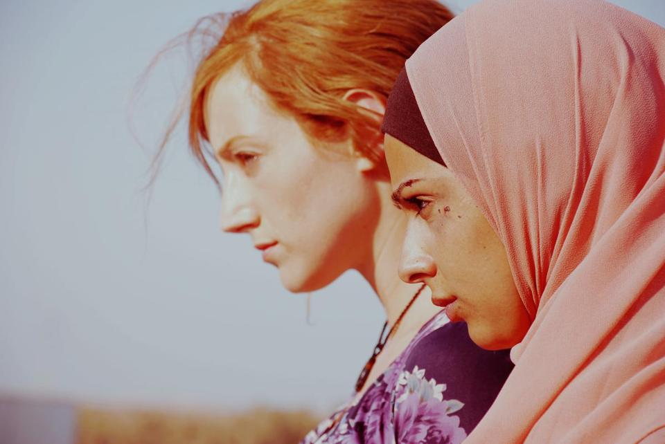 """Wherever You Go,"" an Israeli short feature, stars Maysa Abed Alhadi (right) as a Bedouin and Hila Vidor as the  estranged ultraorthodox Jew she meets unexpectedly."