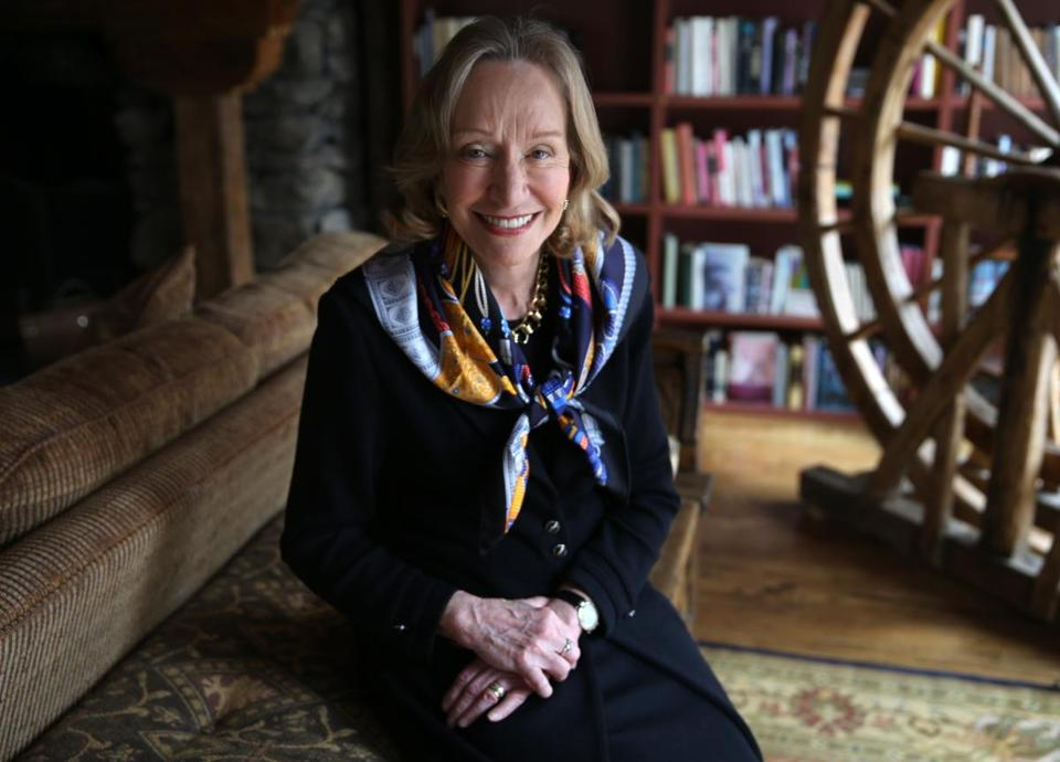 Doris Kearns Goodwin in her Concord home that she shares with her husband who is also a writer.