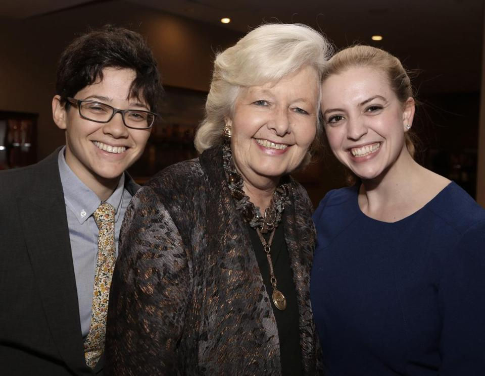 From left: Annie Kurtz of Somerville, honored guest retired Mass. Supreme Judicial Court chief justice Margaret Marshall, and her granddaughter Lily Lewis-McNeil of New Haven.