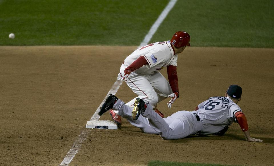 An obstruction call on Middlebrooks cost the Red Sox a lead in the World Series.