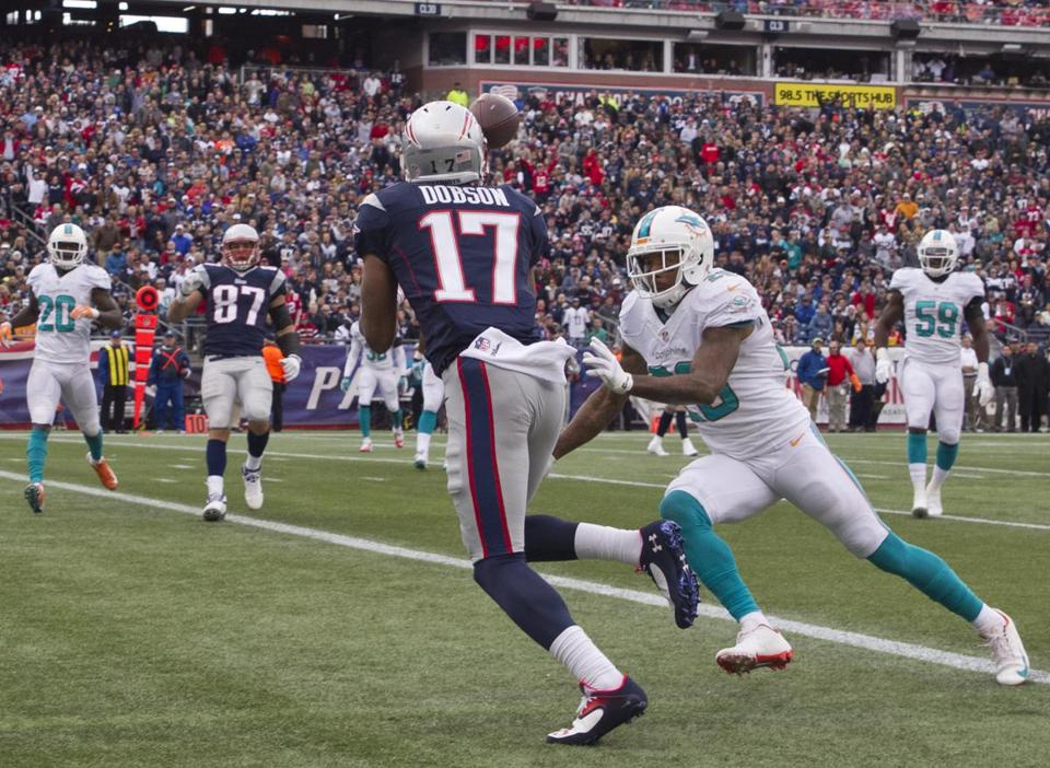 Aaron Dobson caught a 14-yard touchdown pass in the third quarter.