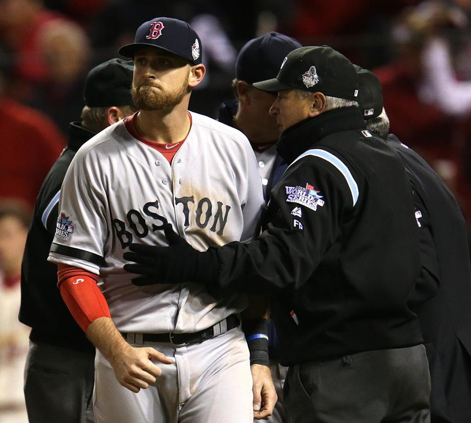 The Red Sox trail the Cardinals in the World Series after losing Game 3.