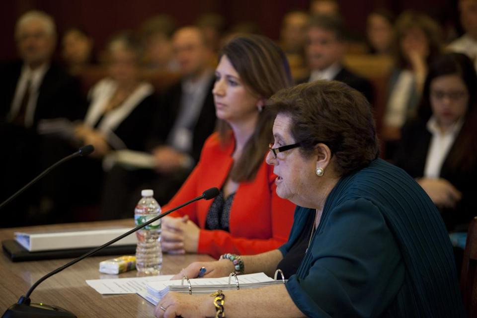 Joanne Feinberg Goldstein, state labor chief, talked about problems with Deloitte.