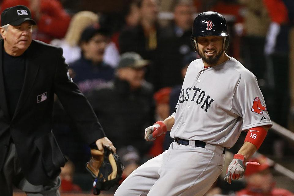 John Farrell said the Red Sox are hopeful Shane Victorino could return in time for Game 5 on Monday.