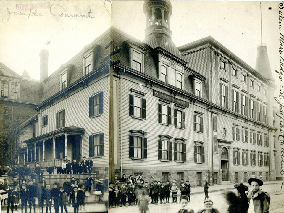 "November 3 1903: The mother house of the order of Les Souers de l'institute de l""enfance Jesus et Marie purchased St. Joseph's parochial school and and St. Joseph's Convent on Harbor Street for $75,000. In addition to establishing a mother house here the nuns would teach at St. Joseph's parochial school."