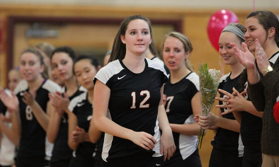 Senior Erin Cox was among the leaders of North Andover in the state volleyball tournament, despite an off-court controversy.