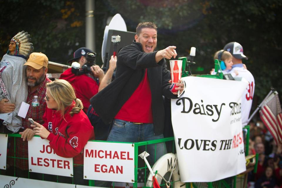 Jake Peavy bought the duck boat he rode in during the parade.