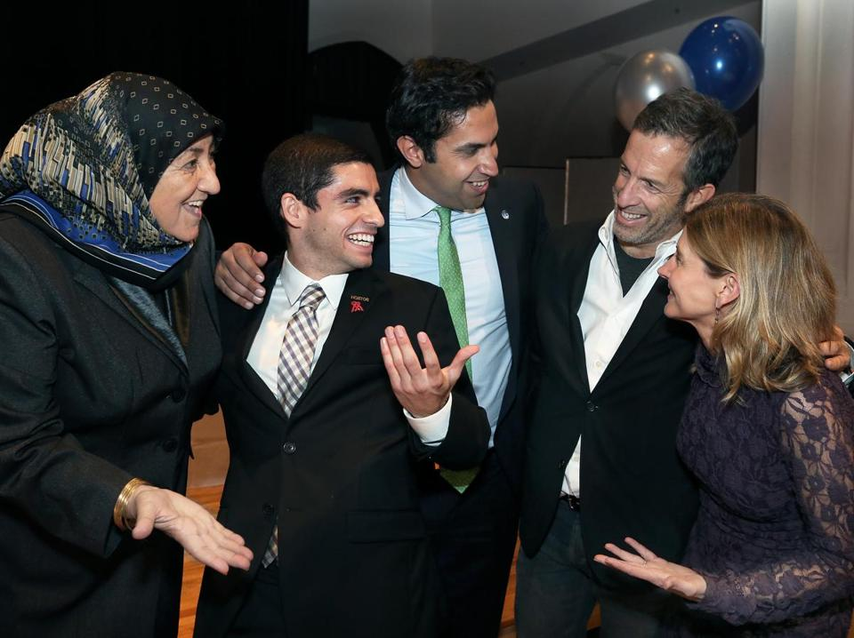 From left: Sakena Yacoobi, Millennium Campus Network Executive Director Sam Vaghar, Ahmad Alhendawi, Kenneth Cole, and Nancy Lindborg.