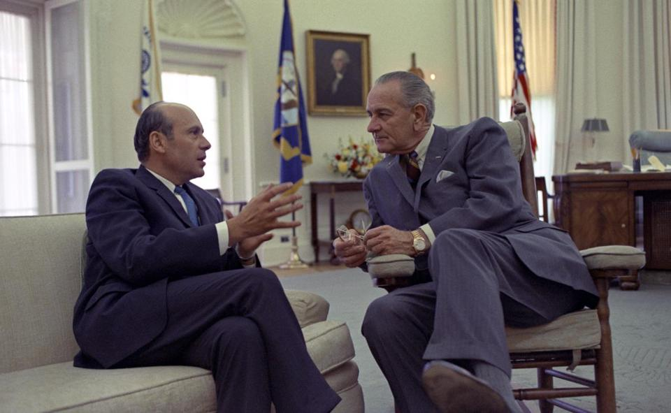 Lee White's advice earned the admiration and trust of President Lyndon B. Johnson.