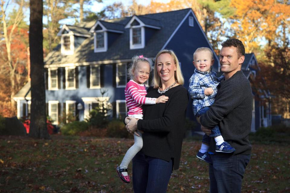 Matt Colleran and his wife, Laura, who recently bought a house in Hopkinton, are part of a wave of home buyers along Interstate 495.