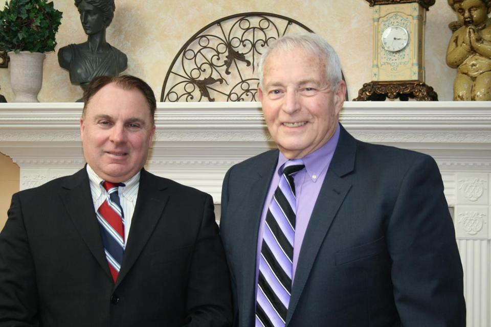 John Seaver (left) and Steven Trettel, co-chairmen of Casino-Free Milford