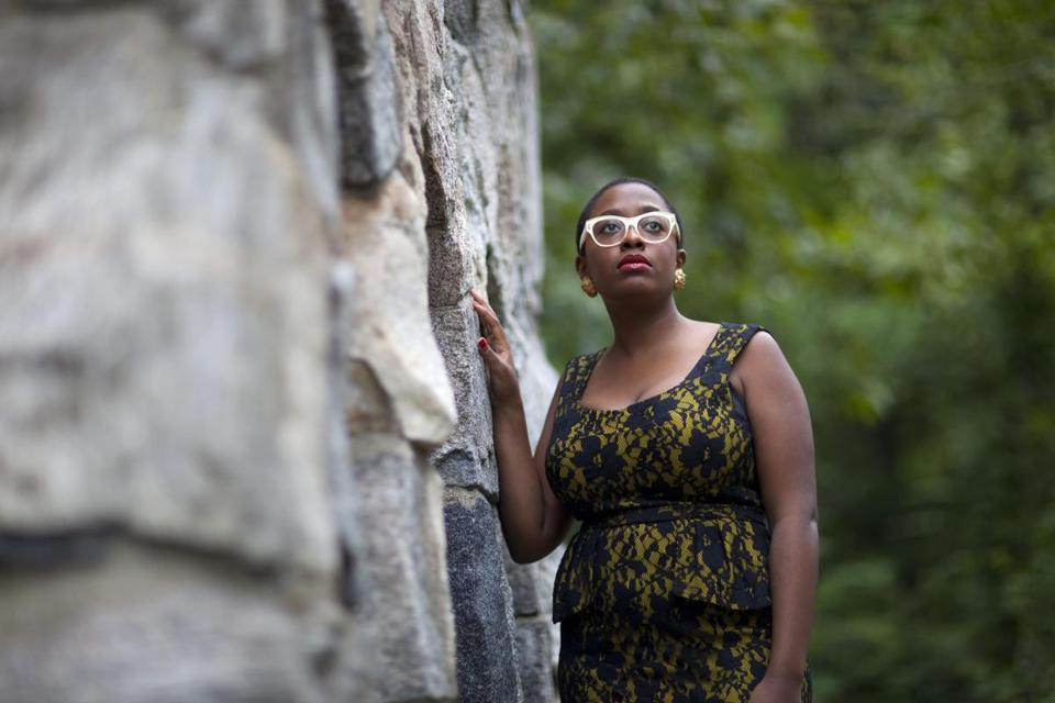 Cécile McLorin Salvant draws references to Sarah Vaughan, Billie Holiday, and Betty Carter.