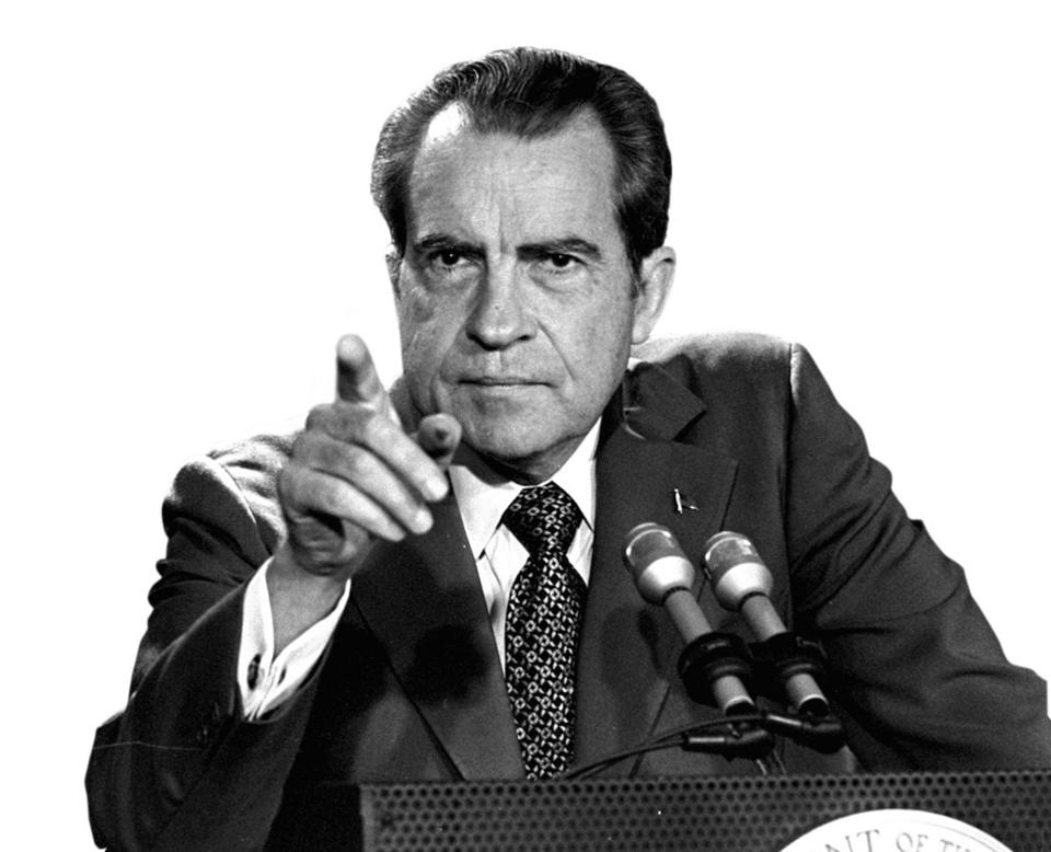 President Nixon, at a news conference on March 15, 1973.