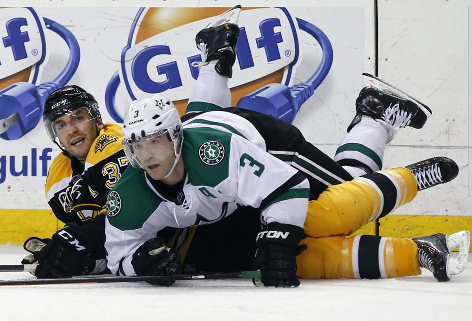 Stephane Robidas and the Stars came out on top of  Patrice Bergeron's Bruins Tuesday.
