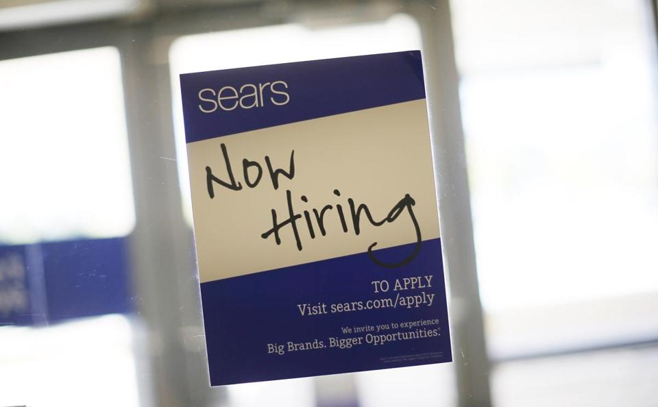 A sign at a Sears store in Schaumburg, Ill.