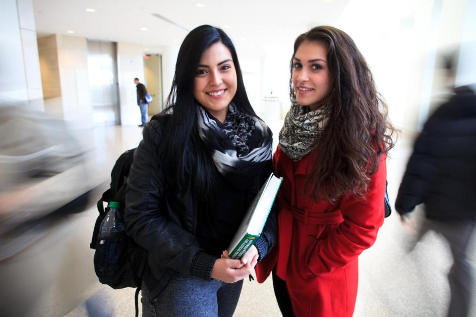 Astrid Franco and Jessica Khokhlan attend UMass Boston.