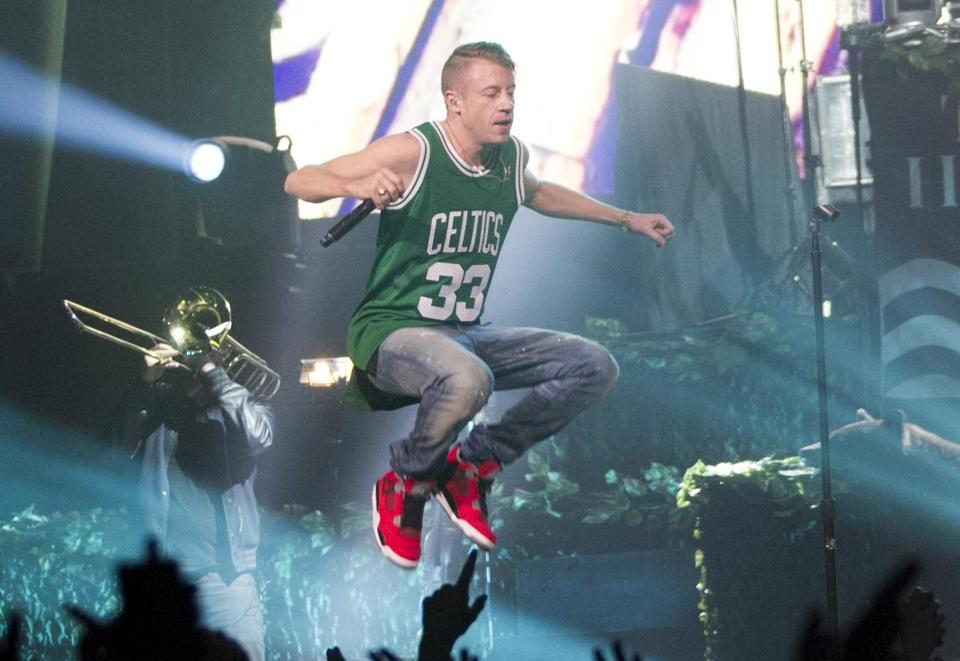 Macklemore & Ryan Lewis and the rest of the band went for two exuberant hours.