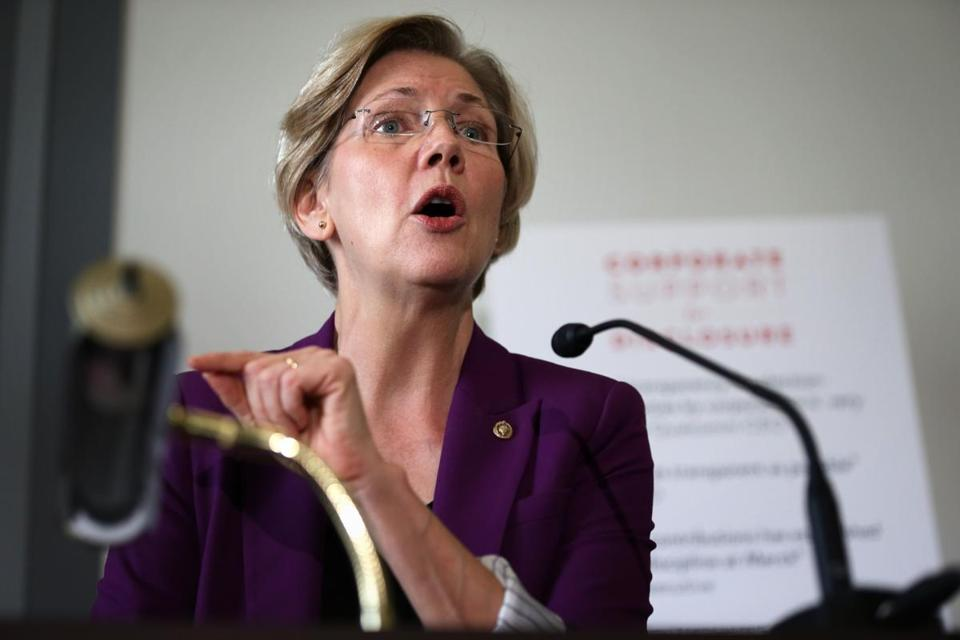 US Senator Elizabeth Warren said not enough has been done to protect the middle class in the wake of the 2008 recession.